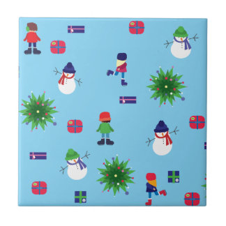 Wintertime Ice Rink Tile