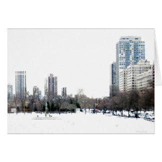 Wintertime in Chicago Card