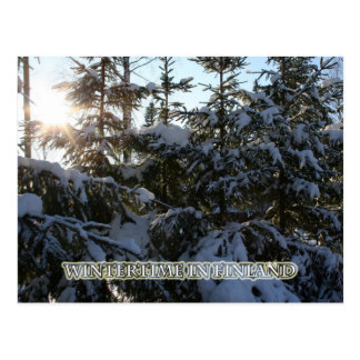 Wintertime in Finland Postcard