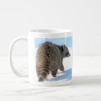 Wintertime Raccoon Excursion Coffee Mug