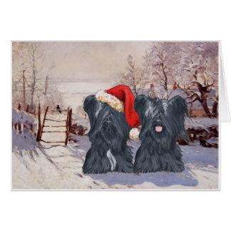Wintertime Skye Terriers Card