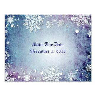Wintery Blue Save The Date Cards