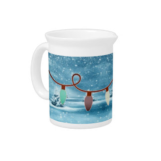 Wintery Christmas Light Pitcher