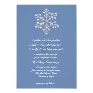Wintery Crystal Snowflake Wedding Invitation 2