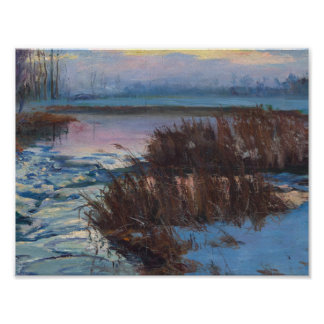 Wintery Marshes, Quebec by Maurice Galbraith Culle Poster