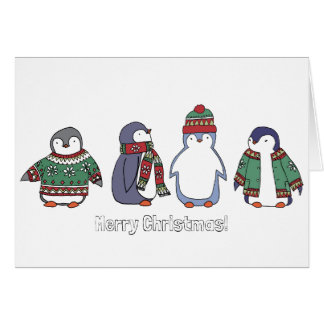 Wintery Penguins Card
