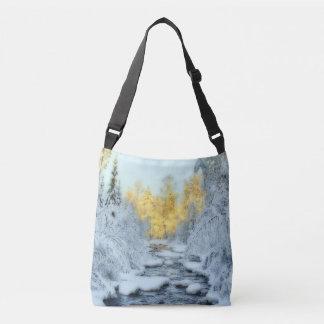 Wintery Stream Crossbody Bag