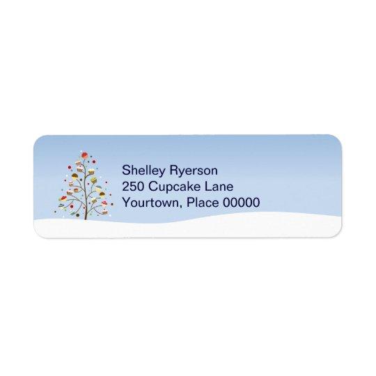 Wintery Tree of Cupcakes Return Address Return Address Label