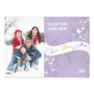 Wintry Branches Holiday Family Photo Card