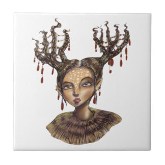 Wintry Christmas Woodland Elf Tile
