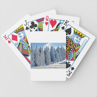 Wintry Snow Firs Snowy Time Of Year Winter Cold Bicycle Playing Cards