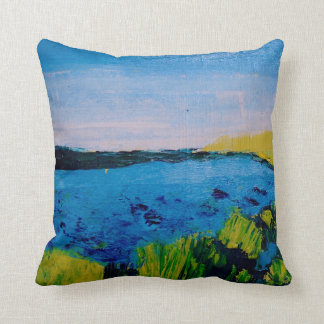 Wintry Water square cushion
