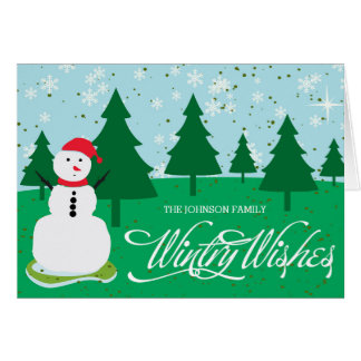 wintry wishes greeting card