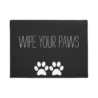 Wipe Your Paws - Black/White Doormat