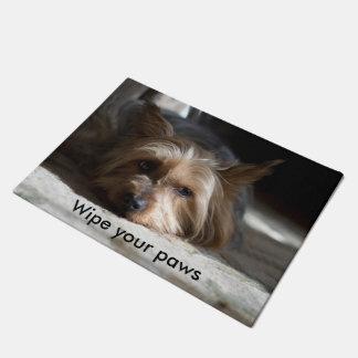 Wipe your paws yorkie / silky door mat
