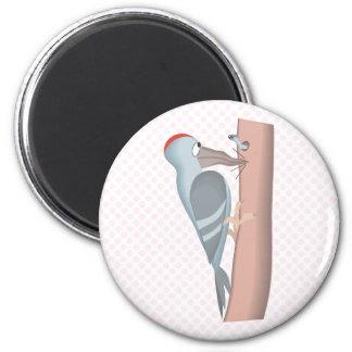 Wipper Woodpecker 2 Inch Round Magnet
