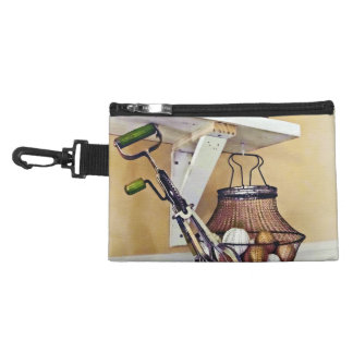 Wire Basket Of Eggs And Egg Beater Accessory Bag