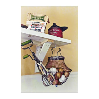 Wire Basket Of Eggs And Egg Beater Acrylic Print