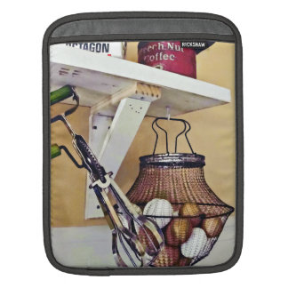 Wire Basket Of Eggs And Egg Beater iPad Sleeve