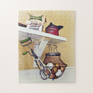 Wire Basket Of Eggs And Egg Beater Jigsaw Puzzle