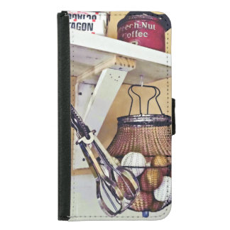 Wire Basket Of Eggs And Egg Beater Samsung Galaxy S5 Wallet Case