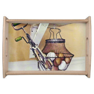 Wire Basket Of Eggs And Egg Beater Serving Tray