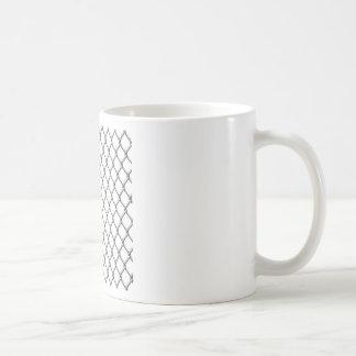 Wire fence seamless tile basic white mug