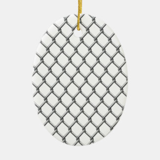 Wire fence seamless tile ceramic oval ornament