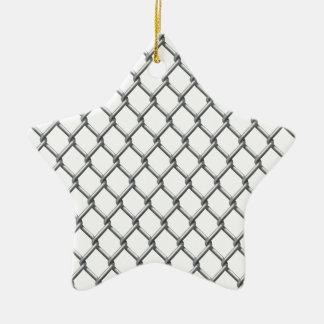 Wire fence seamless tile ceramic star ornament