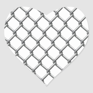 Wire fence seamless tile heart sticker