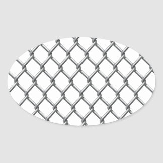 Wire fence seamless tile oval sticker