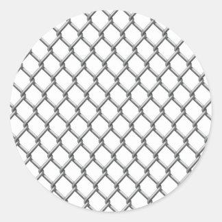 Wire fence seamless tile round sticker