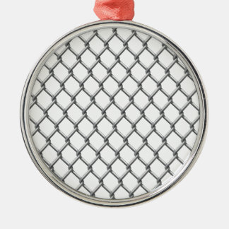 Wire fence seamless tile Silver-Colored round ornament