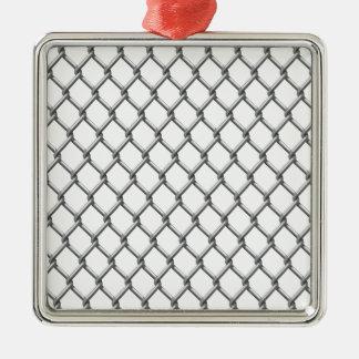 Wire fence seamless tile Silver-Colored square ornament