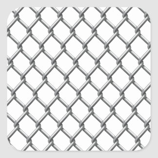Wire fence seamless tile square sticker