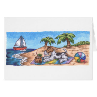 Wire Fox Endless Summer Card with white envelope