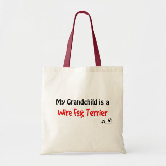 Wire Fox Grandchild Tote Bag