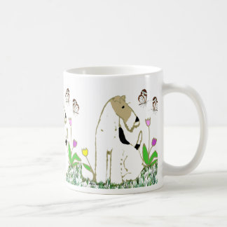 Wire Fox Terrier and Butterflies Coffee Mug