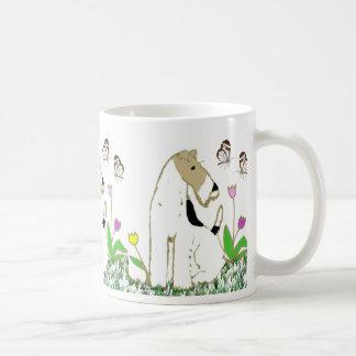 Wire Fox Terrier and Butterflies Coffee Mug