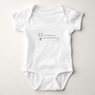 wire fox terrier baby bodysuit