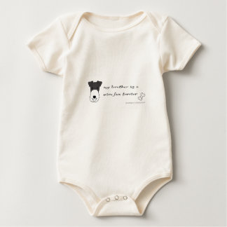 wire fox terrier baby bodysuit