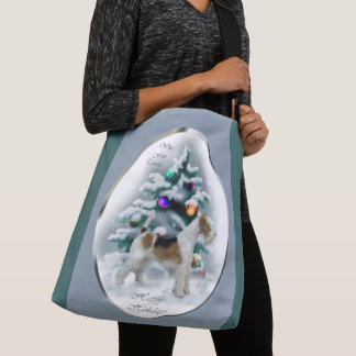 Wire Fox Terrier Christmas Crossbody Bag