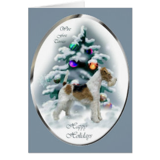 Wire Fox Terrier Christmas Gifts Card