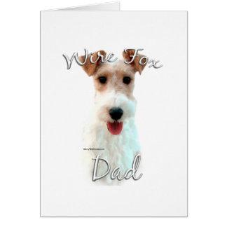 Wire Fox Terrier Dad 2 Card