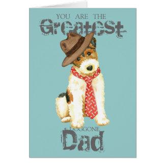 Wire Fox Terrier Dad Card