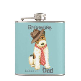 Wire Fox Terrier Dad Flask