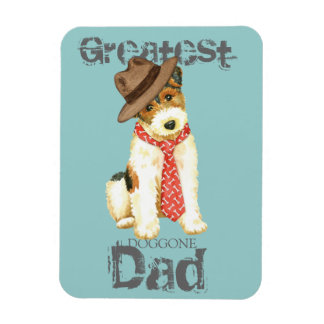 Wire Fox Terrier Dad Magnet