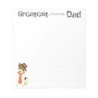 Wire Fox Terrier Dad Notepad