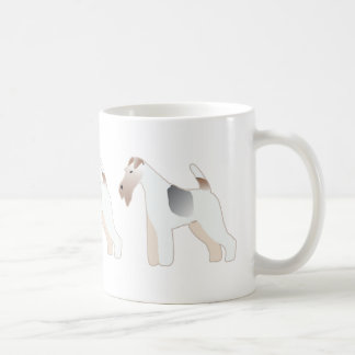 Wire Fox Terrier Dog Breed Illustration Silhouette Coffee Mug