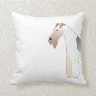 Wire Fox Terrier Dog Breed Illustration Silhouette Throw Pillow